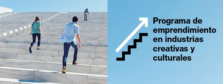 Imagen folleto Programa de emprendimiento en industrias creativas y culturales